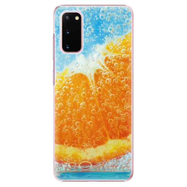 Plastové pouzdro iSaprio - Orange Water - Samsung Galaxy S20