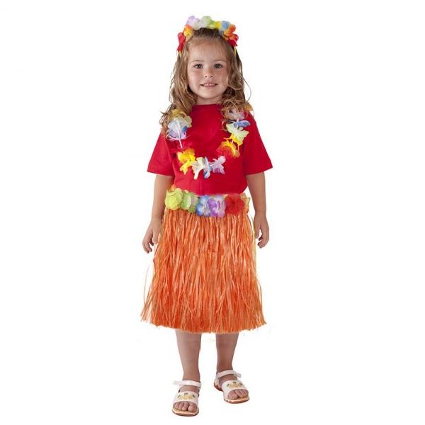 Sukně Hawaii dětská 45 cm, oranžová