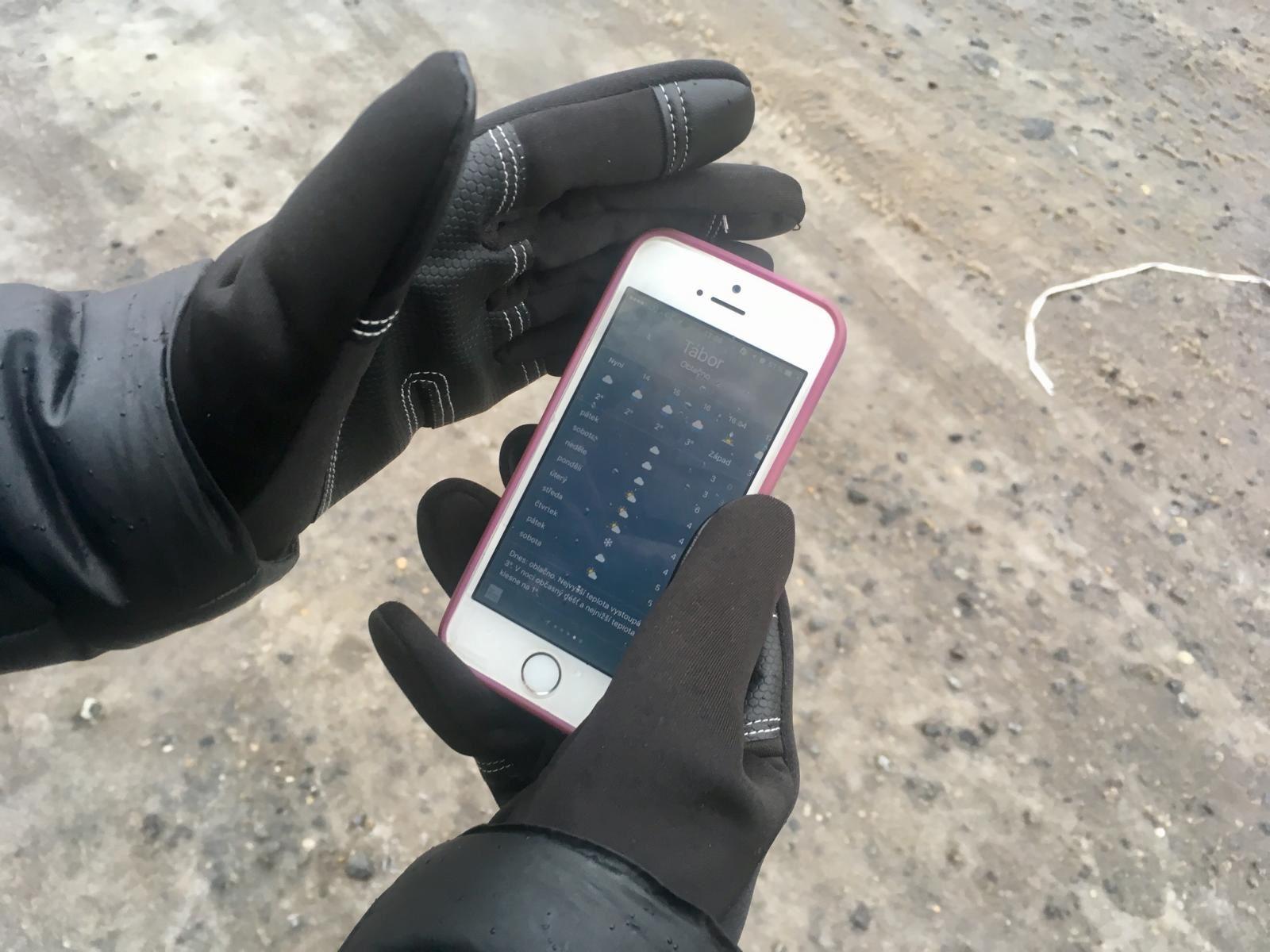 Dotykové rukavice - S