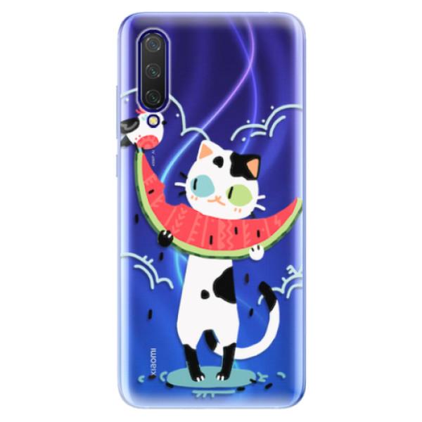 Odolné silikonové pouzdro iSaprio - Cat with melon - Xiaomi Mi 9 Lite