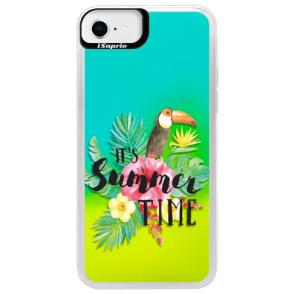 Neonové pouzdro Blue iSaprio - Summer Time - iPhone SE 2020