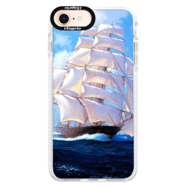 Silikonové pouzdro Bumper iSaprio - Sailing Boat - iPhone 8
