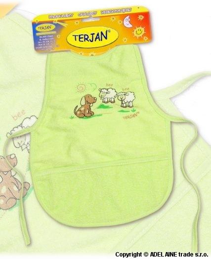 Bryndáček/zástěrka Terjan - zelený