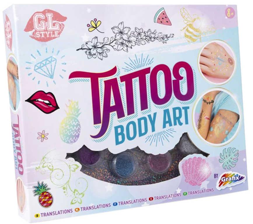 Studio dětské tetovací Body Art set se třpytkami v krabici