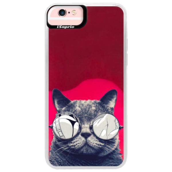 Neonové pouzdro Pink iSaprio - Crazy Cat 01 - iPhone 6 Plus/6S Plus