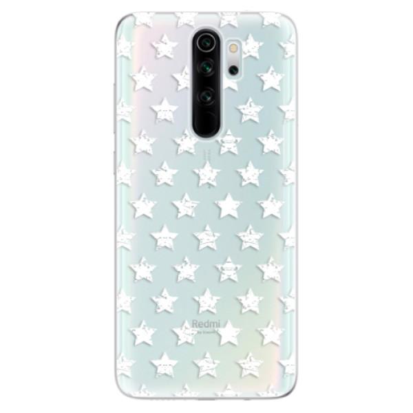 Odolné silikonové pouzdro iSaprio - Stars Pattern - white - Xiaomi Redmi Note 8 Pro