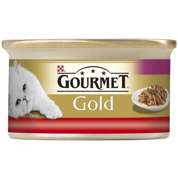 Gold dušené a grilované kousky s hovězím a kuřetem 85 g
