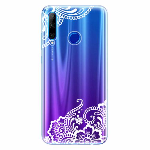 Silikonové pouzdro iSaprio - White Lace 02 - Huawei Honor 20 Lite