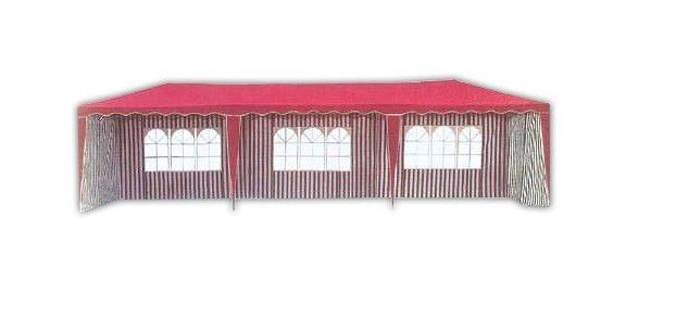 Zahradní stan altán 3901-PL 3x9 m červený vč. bočnic