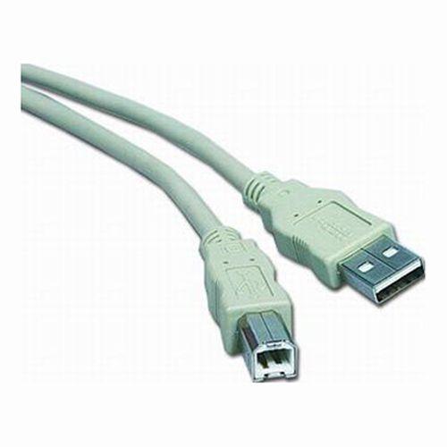 Kabel PremiumCord USB 2.0 A-B 3m, bílý/šedý