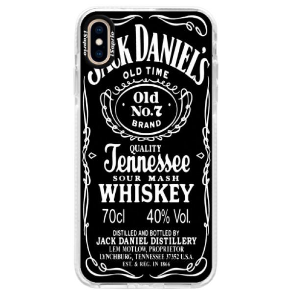 Silikonové pouzdro Bumper iSaprio - Jack Daniels - iPhone XS Max