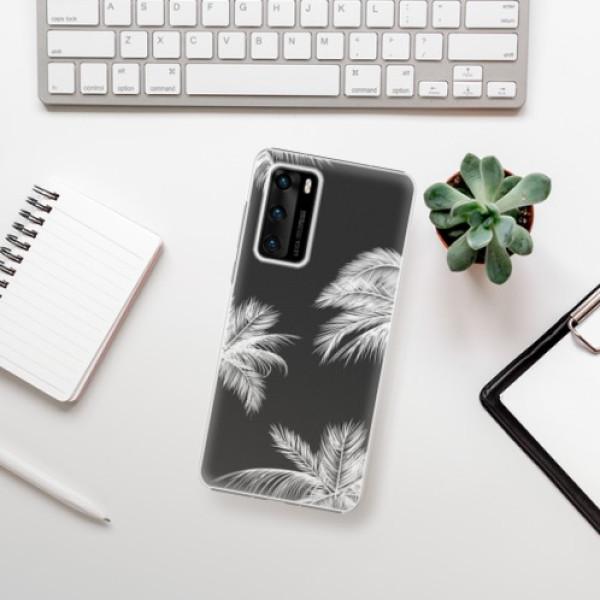 Plastové pouzdro iSaprio - White Palm - Huawei P40