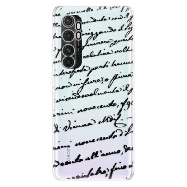 Odolné silikonové pouzdro iSaprio - Handwriting 01 - black - Xiaomi Mi Note 10 Lite