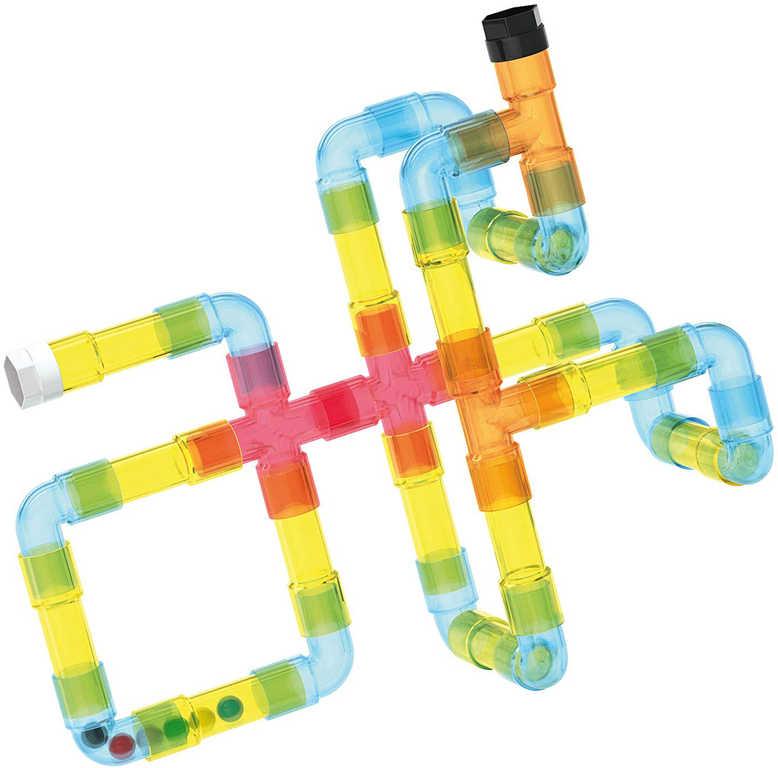 QUERCETTI Tubation Maze 3D potrubí transparentní 44 dílků STAVEBNICE