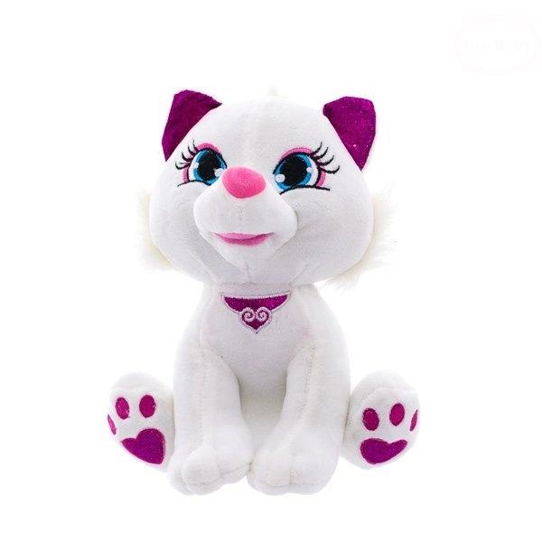 Plyšová kočička 24cm - bílá