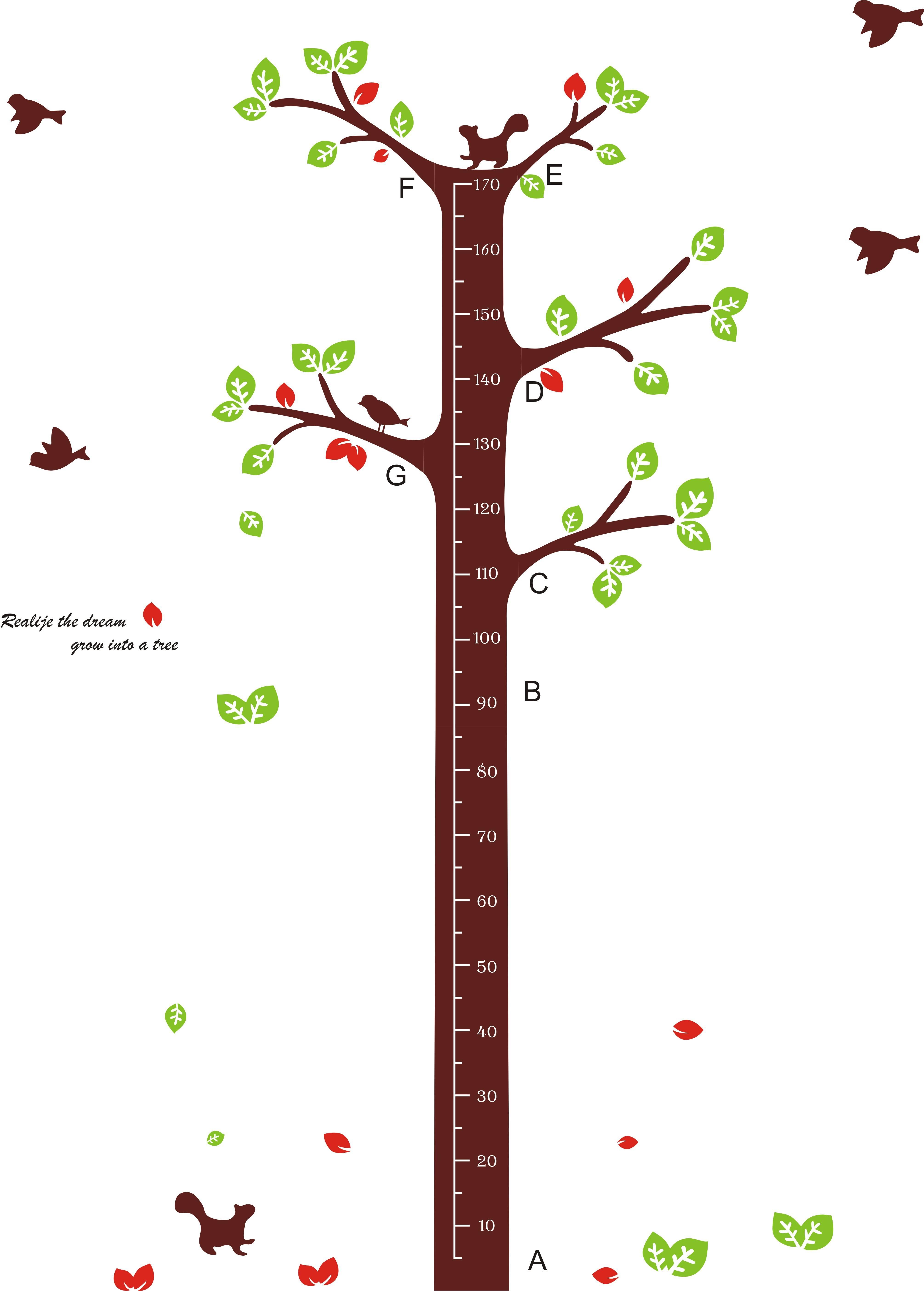 Samolepka na zeď metr strom