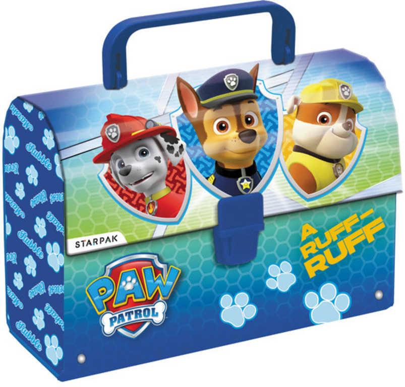 STARPAK Kufřík dětský kartonový s ručkou Tlapková Patrola (Paw Patrol)