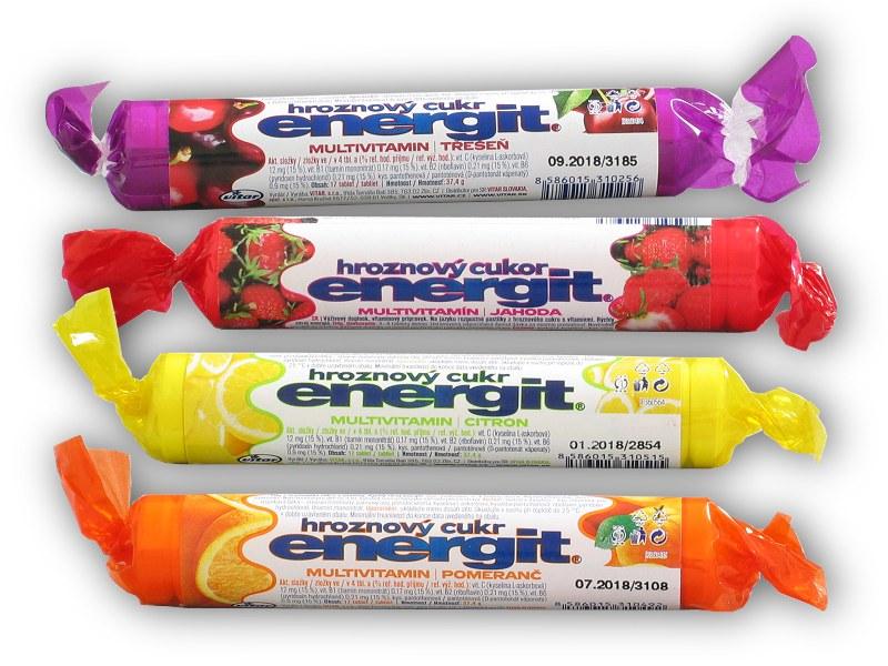 Energit hroznový cukr multivitamin 17 - tablet-jahoda