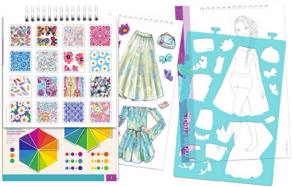 MAKE IT REAL Portfolio návrhářské Květiny kreativní set v krabici