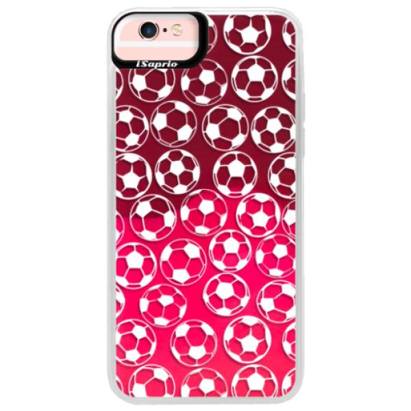 Neonové pouzdro Pink iSaprio - Football pattern - white - iPhone 6 Plus/6S Plus