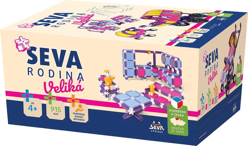 VISTA SEVA RODINA Veliká plastová XL STAVEBNICE 915 dílků v krabici