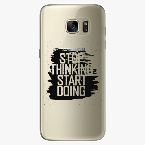 Plastový kryt iSaprio - Start Doing - black - Samsung Galaxy S7 Edge