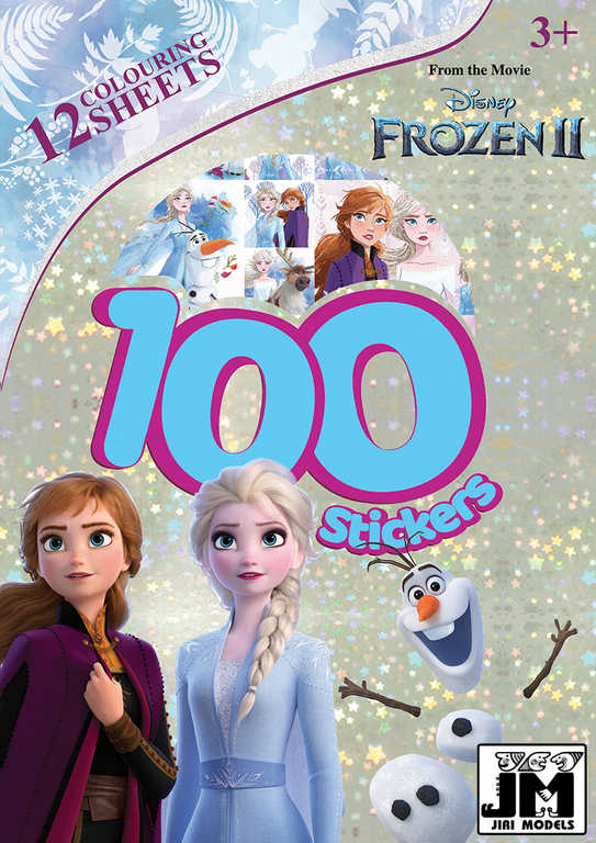 JIRI MODELS Set omalovánky + samolepky 100+ Frozen 2 (Ledové Království)