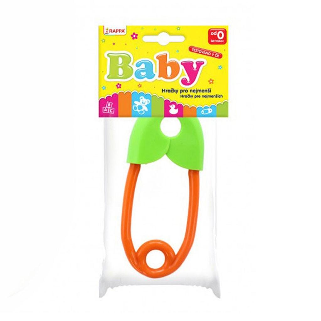 Chrastítko špendlík Rappa oranžovo-zelené - dle obrázku