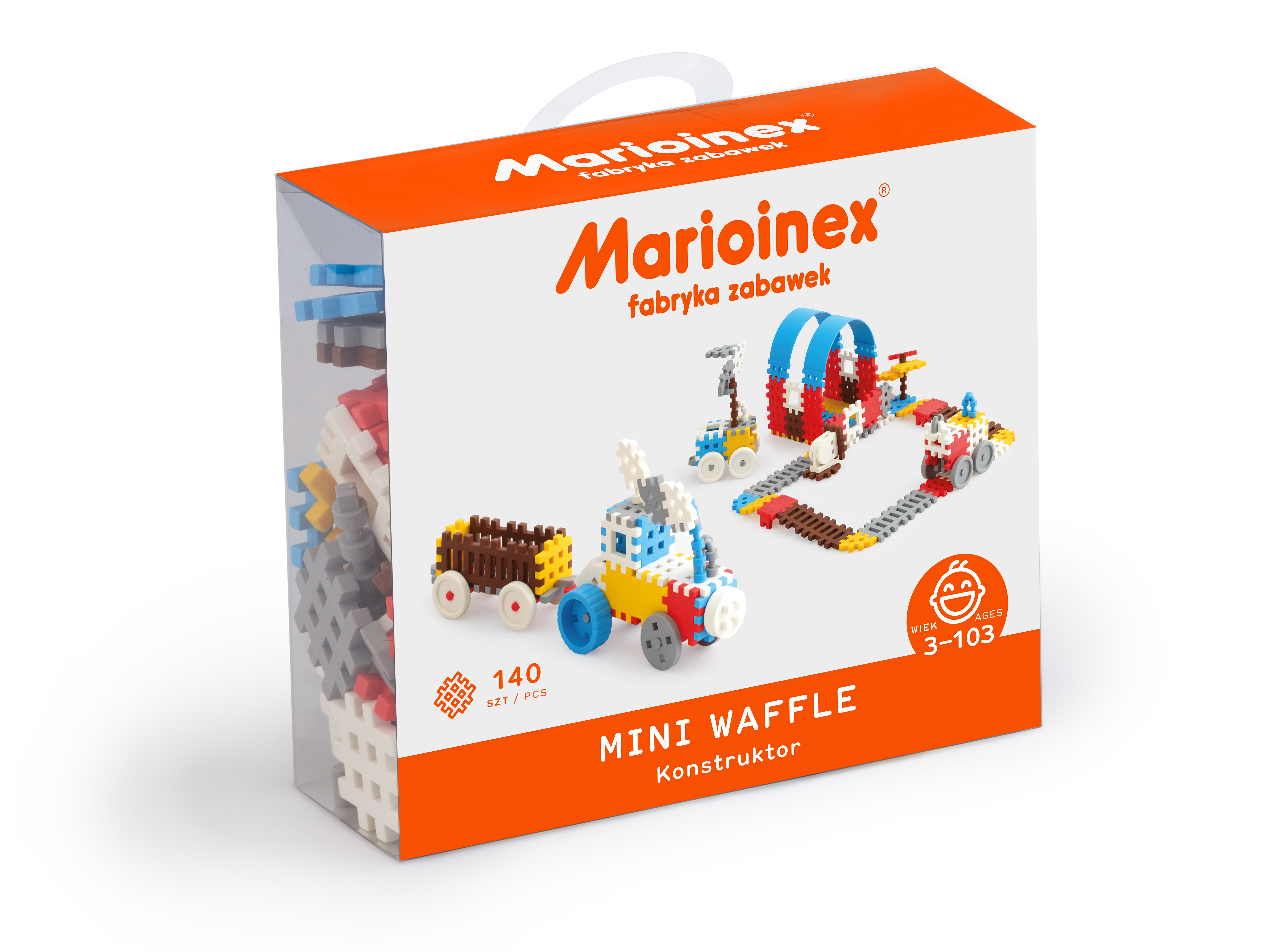 Marioinex MINI WAFLE – 140 ks Konstruktér (chlapci)