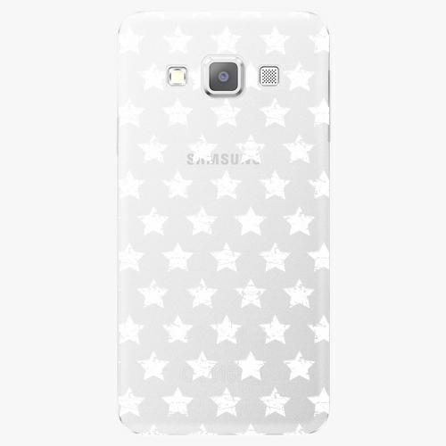 Plastový kryt iSaprio - Stars Pattern - white - Samsung Galaxy A7