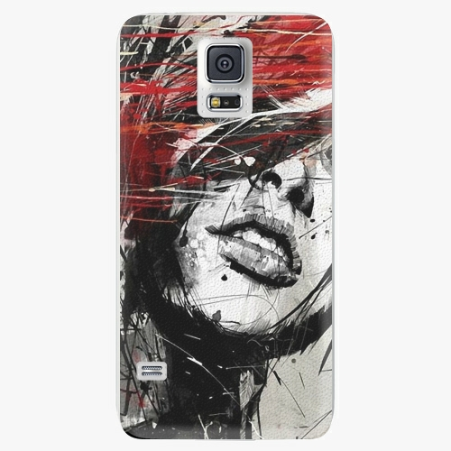 Plastový kryt iSaprio - Sketch Face - Samsung Galaxy S5