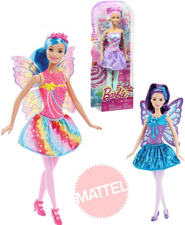 MATTEL BRB Barbie panenka víla 32cm s křídly set s doplňky 3 druhy