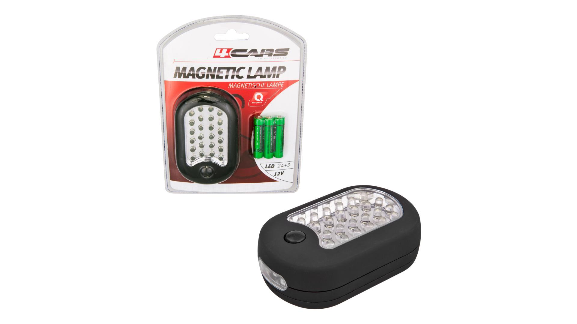 4CARS Pracovní lampa 24 + 3 LED mýdlo