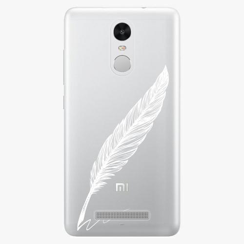 Plastový kryt iSaprio - Writing By Feather - white - Xiaomi Redmi Note 3 Pro