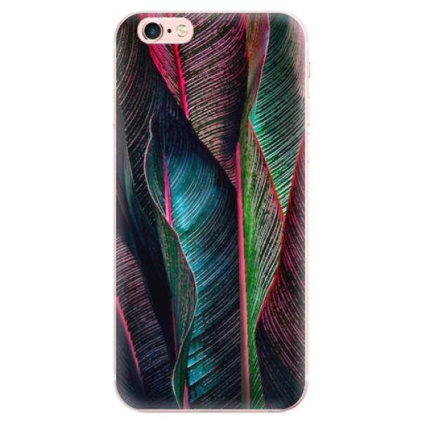 Odolné silikonové pouzdro iSaprio - Black Leaves - iPhone 6 Plus/6S Plus