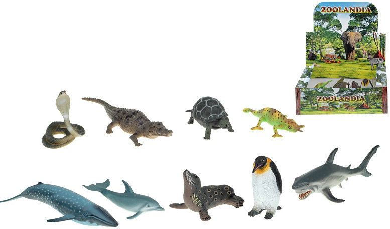 Zvířátko plastové ryby / plazi 6-17,5cm - 9 druhů