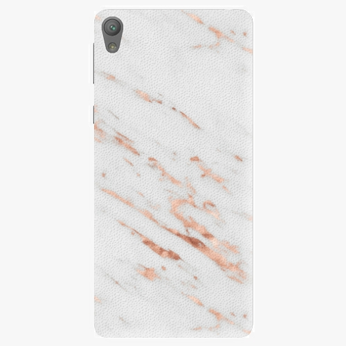 Plastový kryt iSaprio - Rose Gold Marble - Sony Xperia E5