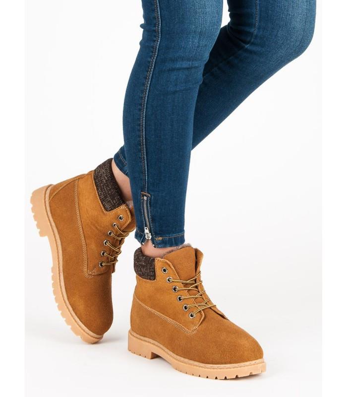Dámské kožené traperky 37211C - Walkman shoes - Camel/41