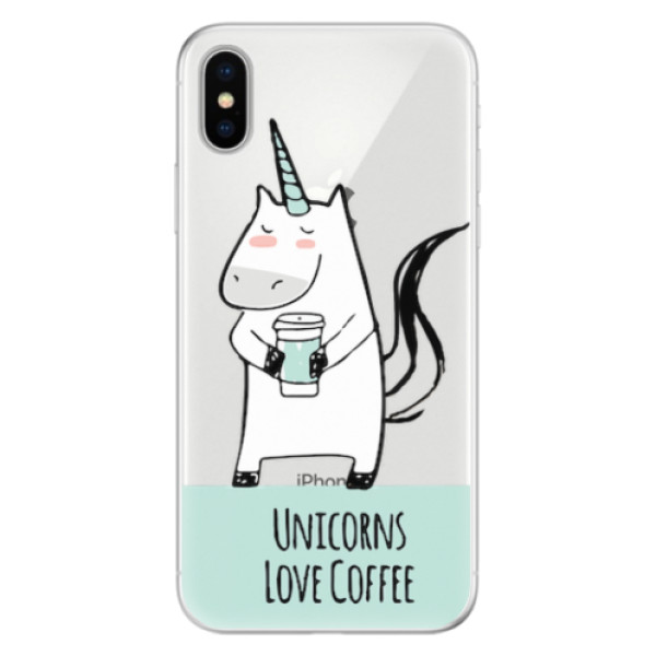 Silikonové pouzdro iSaprio - Unicorns Love Coffee - iPhone X