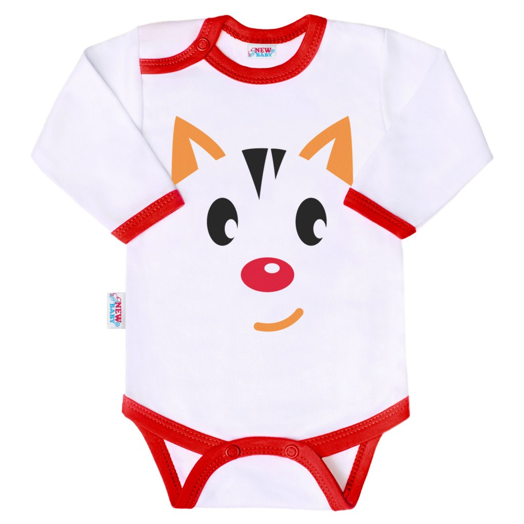 Body s potiskem New Baby Animals kočička - dle