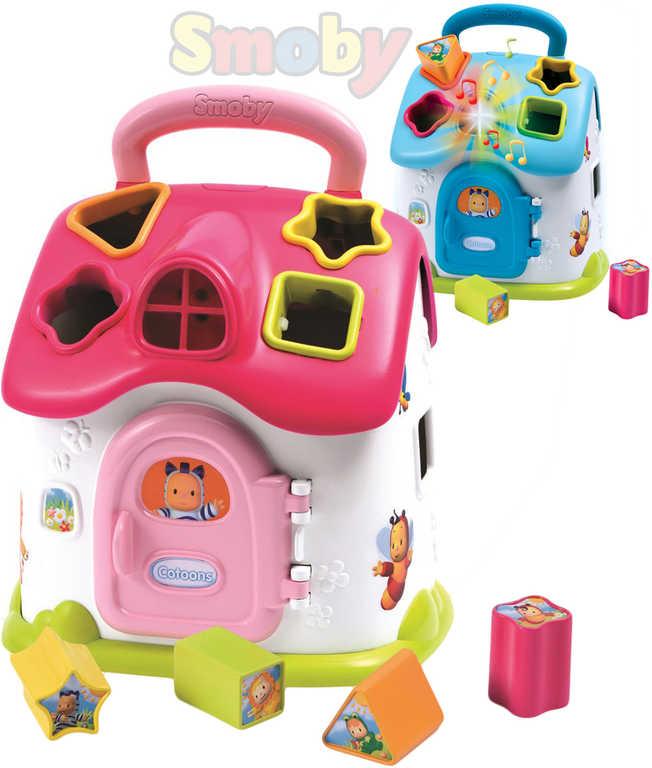 SMOBY Cotoons baby domek vkládačka domeček vkládací na baterie Světlo Zvuk
