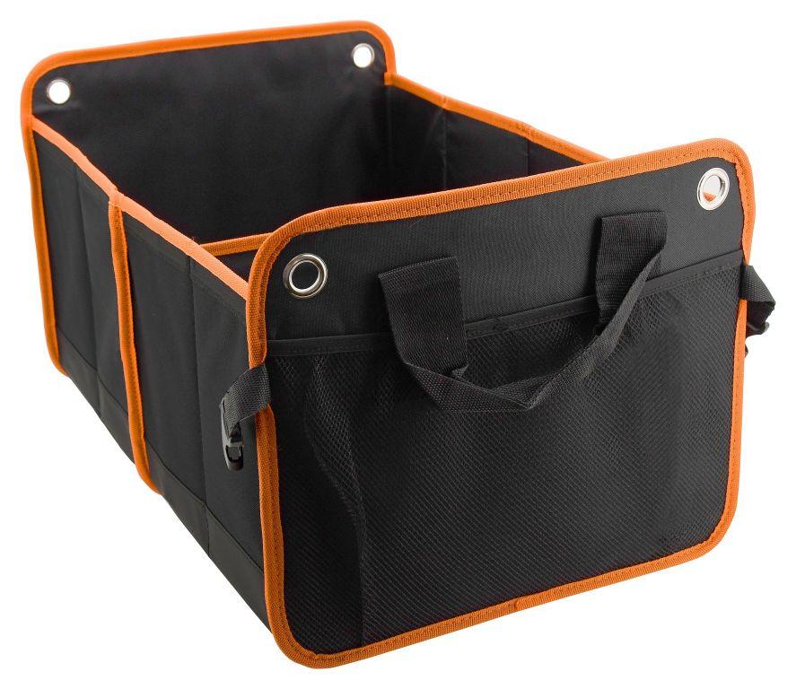 Organizér do kufru dvojitý - 54 x 34 cm, černý/oranžový