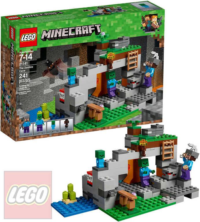LEGO MINECRAFT Jeskyně se zombie STAVEBNICE 21141