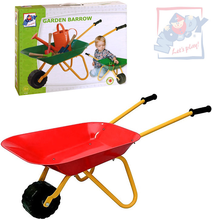 WOODY Dětské kolečko (kolečka) kovové červené na zahradu