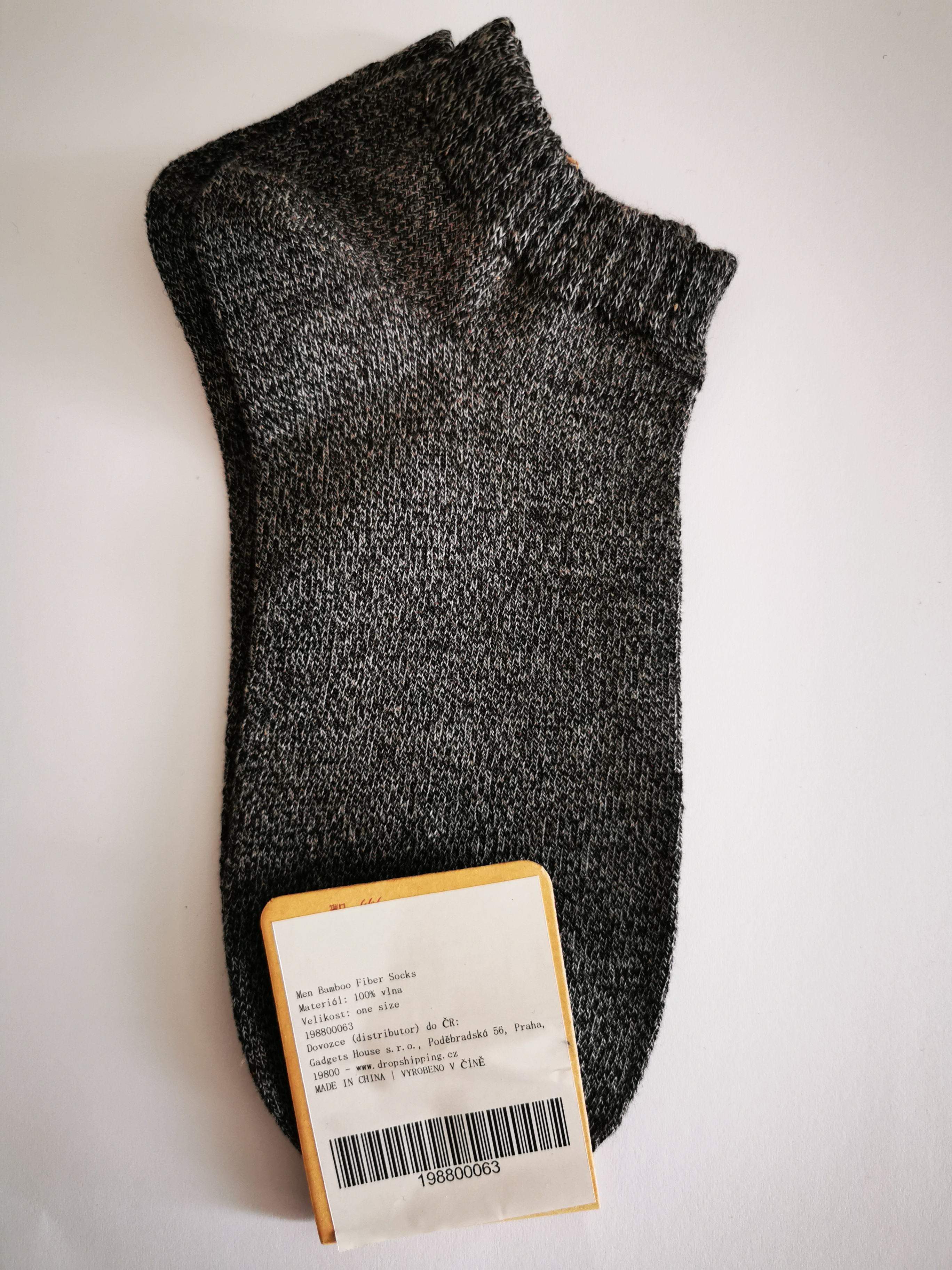 Jednobarevné letní ponožky - Šedá