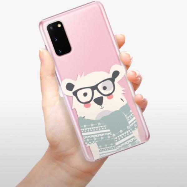 Plastové pouzdro iSaprio - Bear with Scarf - Samsung Galaxy S20