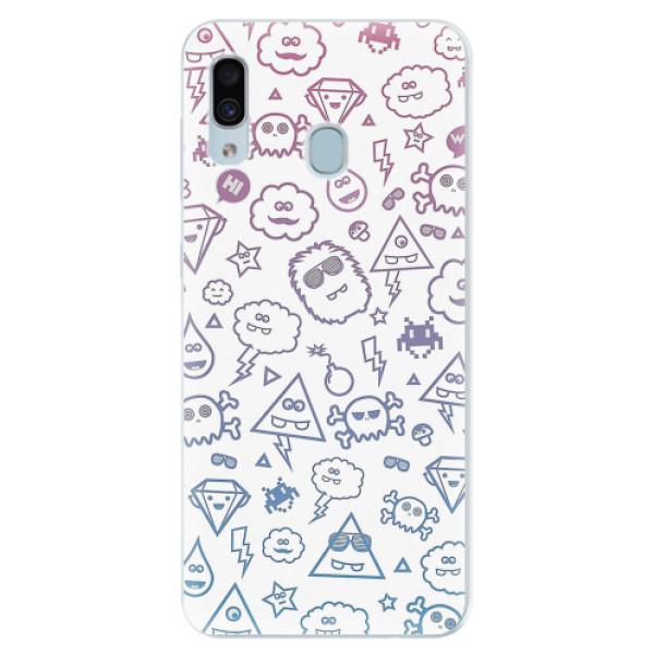 Silikonové pouzdro iSaprio - Funny Clouds - Samsung Galaxy A30