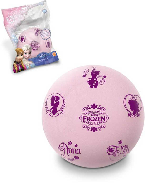 SEDCO Míč pěnový Frozen (Ledové království) 20cm lehký balon růžový v sáčku