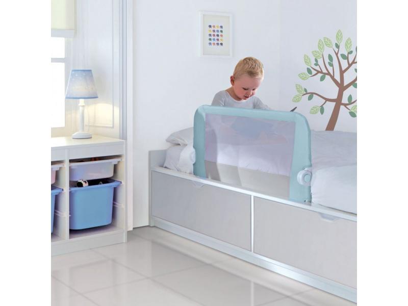 Lindam - Dětská zábrana kposteli modrá