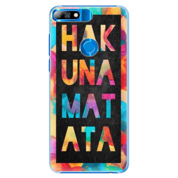 Plastové pouzdro iSaprio - Hakuna Matata 01 - Huawei Y7 Prime 2018